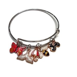 Jewelry - Nature Themed Silver Bangle (New)